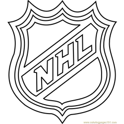 NHL Logo Free Coloring Page for Kids