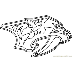 Nashville Predators Logo Free Coloring Page for Kids