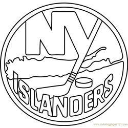 New York Islanders Logo Free Coloring Page for Kids