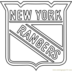 New York Rangers Logo Free Coloring Page for Kids