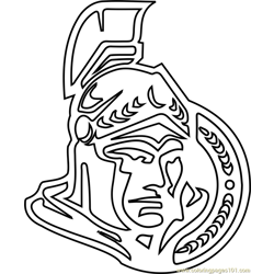Ottawa Senators Logo Free Coloring Page for Kids