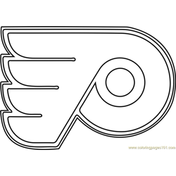Philadelphia Flyers Logo Free Coloring Page for Kids