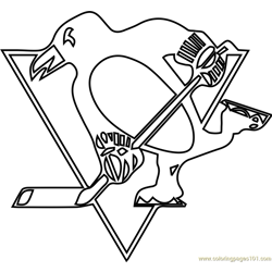 Pittsburgh Penguins Logo Free Coloring Page for Kids