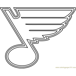 St Louis Blues Logo Free Coloring Page for Kids