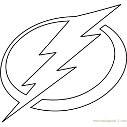 Tampa Bay Lightning Logo Free Coloring Page for Kids