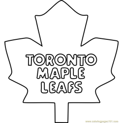 Toronto Maple Leafs Logo Free Coloring Page for Kids