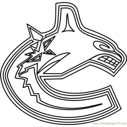 Vancouver Canucks Logo Free Coloring Page for Kids