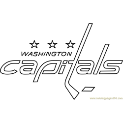Washington Capitals Logo Free Coloring Page for Kids