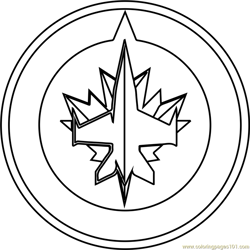 Winnipeg Jets Logo Free Coloring Page for Kids