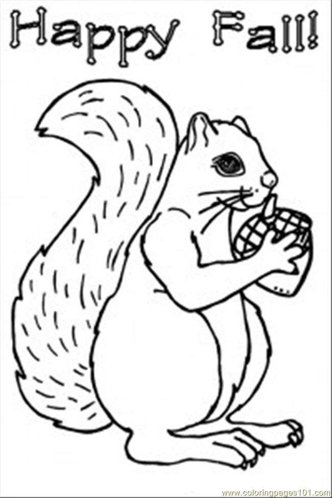 Squirrel Coloring Coloring Page - Free Squirrel Coloring Pages ...