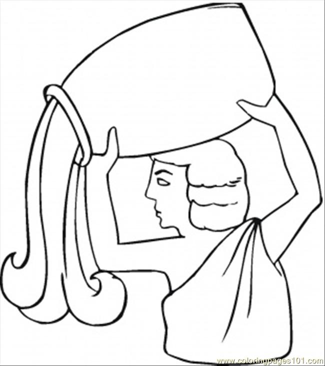 Aquarius Coloring Page Free Star