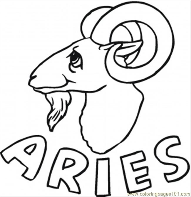 Aries Coloring Page Free Star