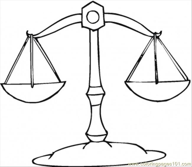 Libra Coloring Page  Free Star Signs Coloring Pages