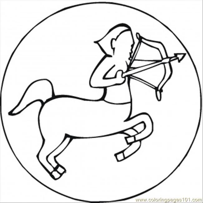 Sagittarius Coloring Page Free Star Signs Coloring Pages ColoringPages101