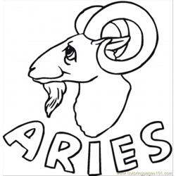 Aries Free Coloring Page for Kids