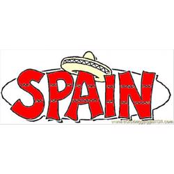 Spain Free Coloring Page for Kids