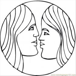 Gemini coloring page