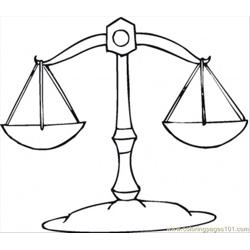 Libra Free Coloring Page for Kids