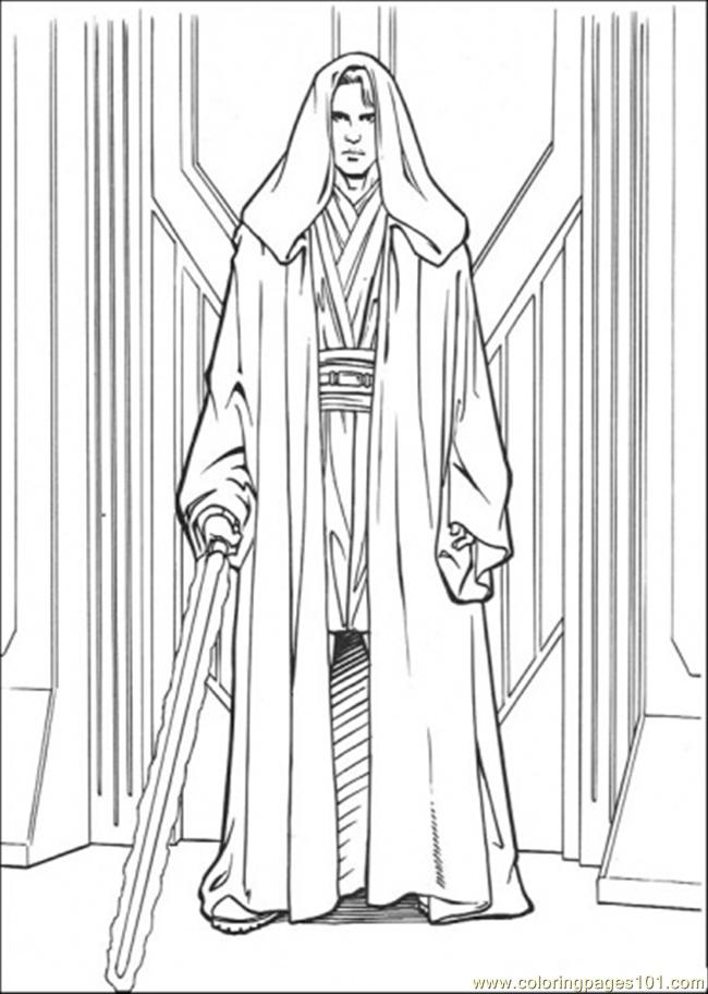 Anakin Skywalker Coloring Page Free Star Wars Coloring
