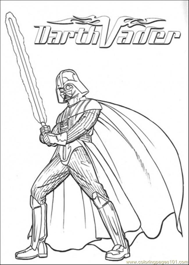 Darth Vadder 4 Coloring Page