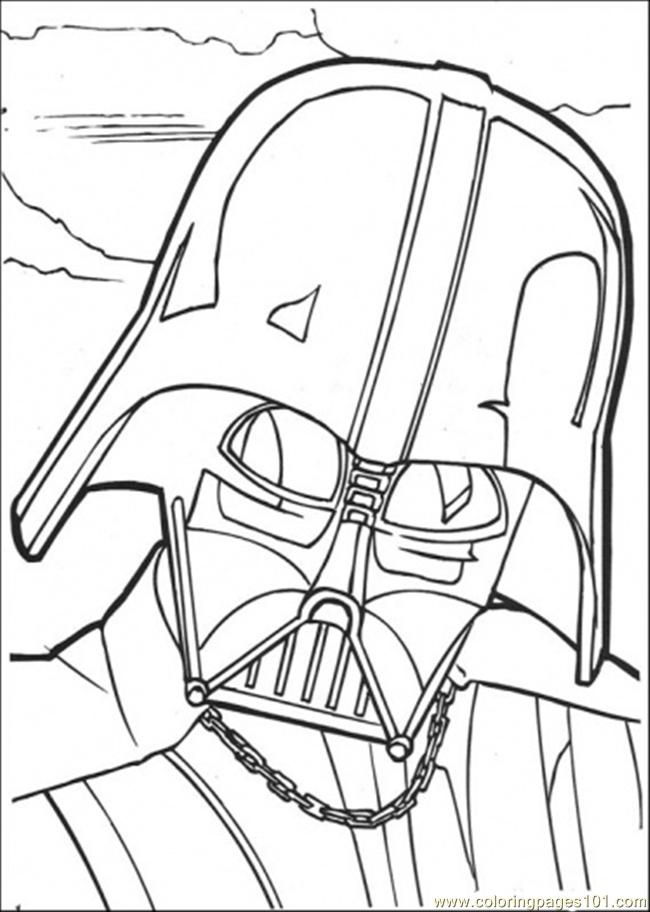 Darth Vadder Face Coloring Page