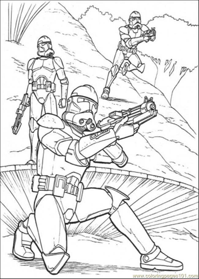 Ready To Shot Coloring Page