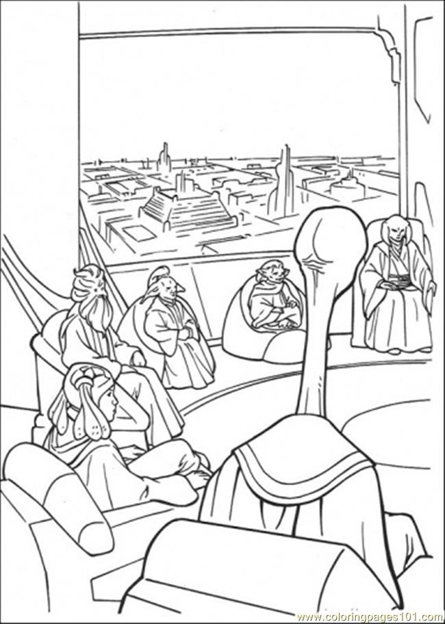 Star Wars Meeting 2 Coloring Page