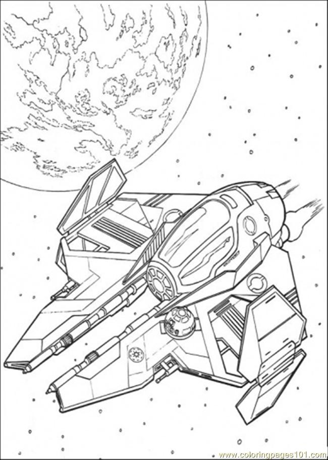 Star Wars Ship 5 Printable Coloring Page For Kids And Adults