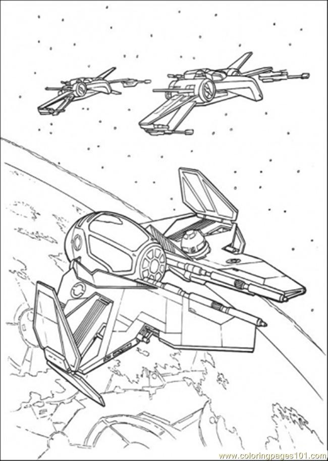 Star Wars Ship 6 Coloring Page