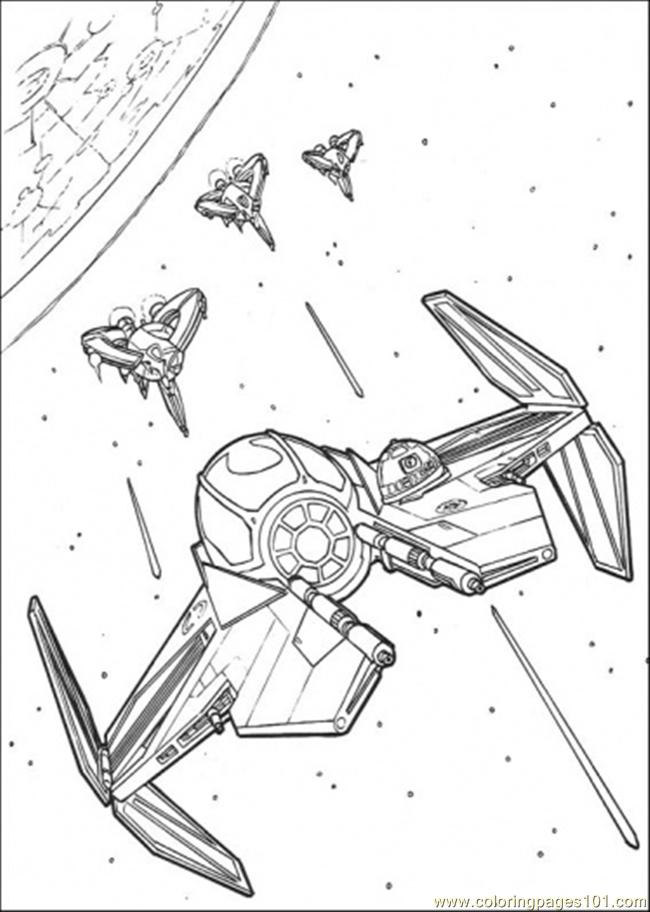 Star Wars Ship 7 Coloring Page