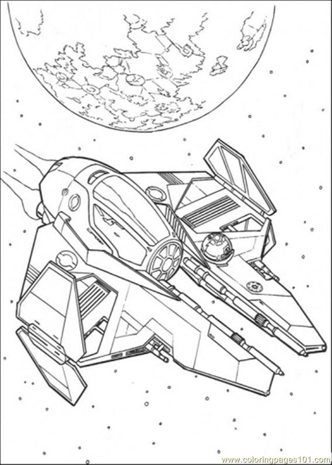 Star Wars Ship 8 Coloring Page