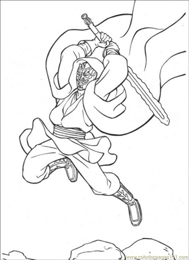 Swings The Sword Coloring Page