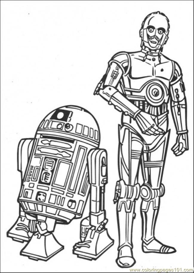 The Robots Coloring Page Free Star Wars Coloring Pages