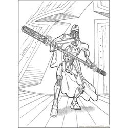 Ready For Battle Free Coloring Page for Kids