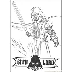 Sith Lord Free Coloring Page for Kids