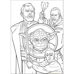 Star Wars Character 2 Free Coloring Page for Kids