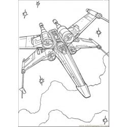 Tar Wars Ship 1 Coloring Page
