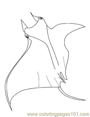 Top 10 Free Printable Stingray Coloring Pages Online | 400x309