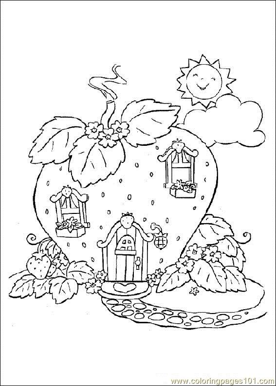 Straw Berry Shortcake Coloring Page Free Strawberry