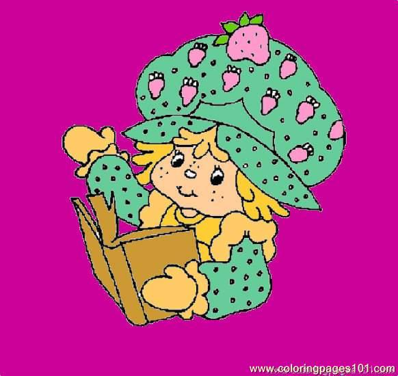 Strawberry Shortcake Lrg Coloring Page