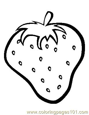 Strawberry (1) Coloring Page - Free Strawberry Coloring Pages ...