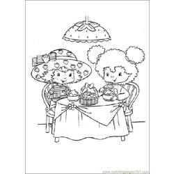 Straw Berry ShortCake Free Coloring Page for Kids