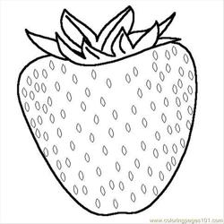 Cstrawberry Free Coloring Page for Kids