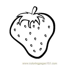 Strawberry (1) coloring page