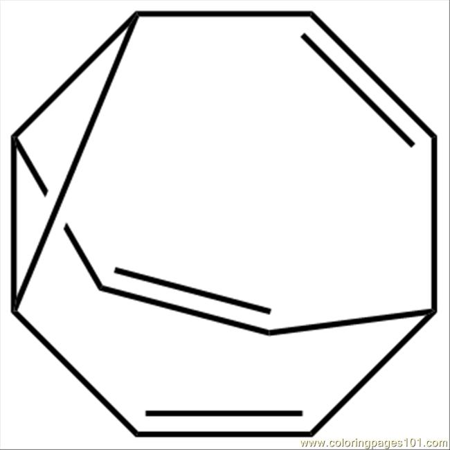 Bullvalene Structure Coloring Page