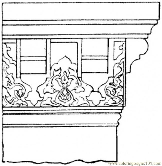 Column From Old Roman Times Coloring Page