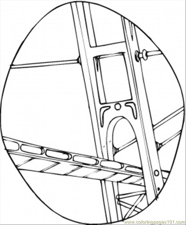 Construction Of The Bridge Coloring Page