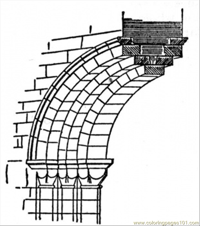 Half Of Arch Coloring Page