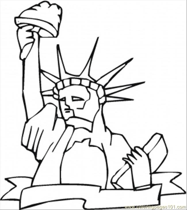 Monument Of Liberty Coloring Page