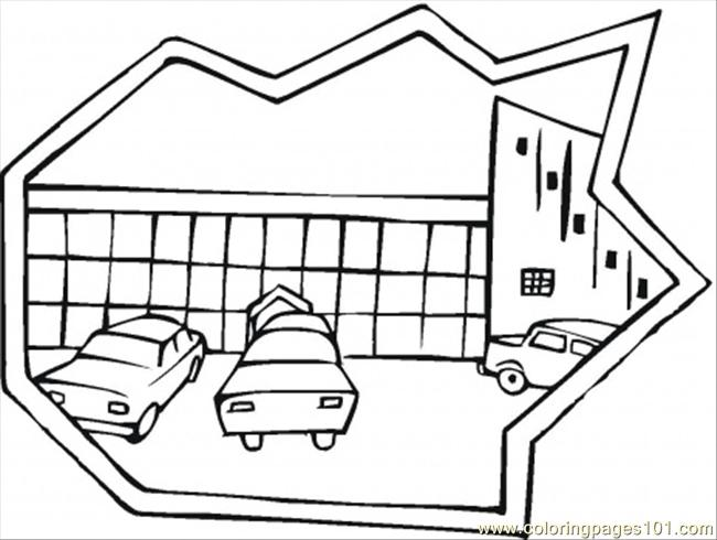 Parking Coloring Page